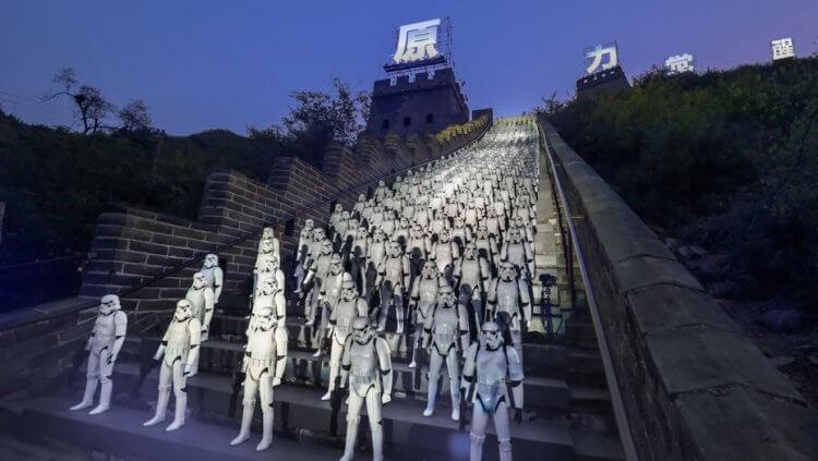 2015 年星戰電影《STAR WARS:原力覺醒》曾在北京居庸關長城進行大型宣傳。