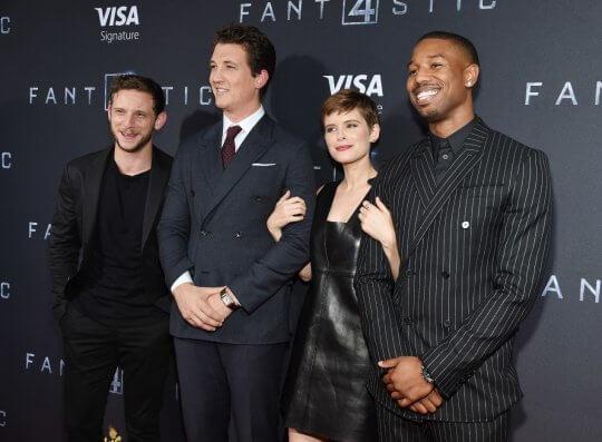 2015 年版《驚奇 4 超人》的主演們一同出席活動。