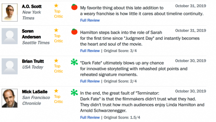 《魔鬼終結者:黑暗宿命》的評價也十分兩極。