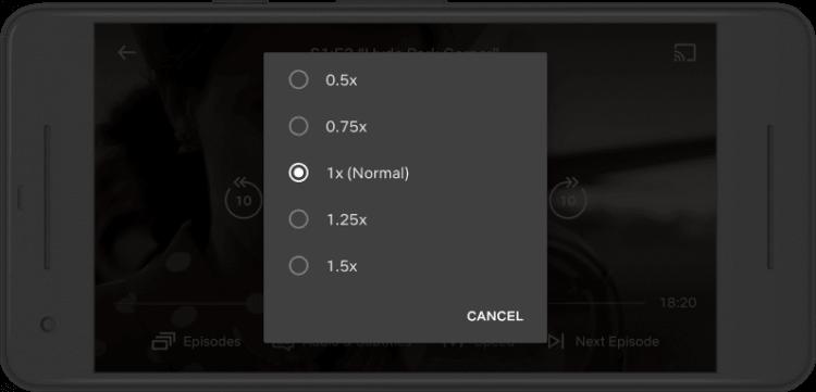 網飛想要推出改變播放速度的功能以統計使用者觀看平台上內容的習慣。