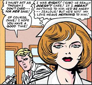 漫畫裡唐納布雷克醫生以及他的女友珍佛斯特。