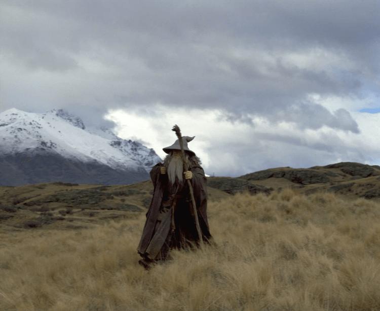 《魔戒》系列中,由伊恩麥克連飾演的甘道夫。
