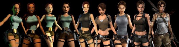 《古墓奇兵》遊戲裡歷年來的蘿拉演化史。