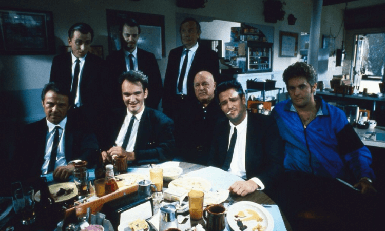 《霸道橫行》(Reservoir Dogs) 幕後照片。