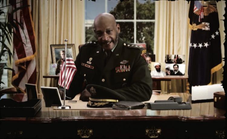 《天空鯊:納粹終極武器》電影劇照。