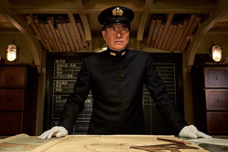 日本影星豐川悅司於《中途島大戰》中飾演山本五十六。
