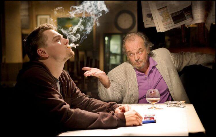 《神鬼無間》傑克尼克與李奧納多狄卡皮歐互相對戲。