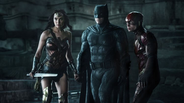 《正義聯盟》神力女超人、蝙蝠俠、閃電俠