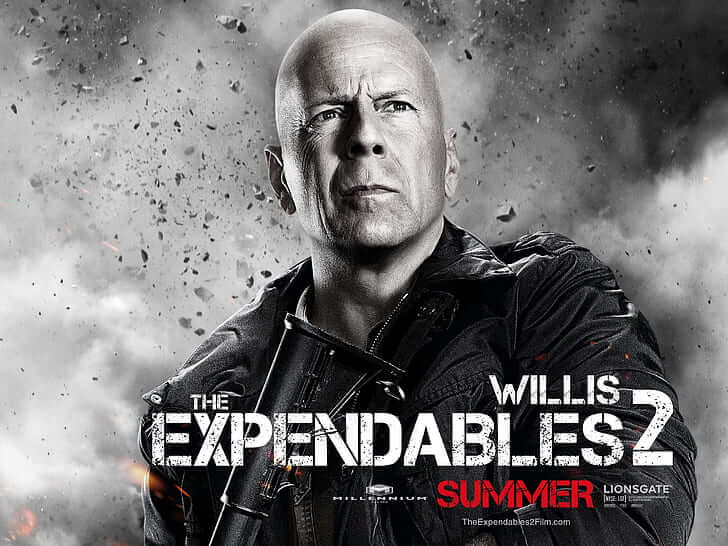 布魯斯威利演出電影《浴血任務 2》。