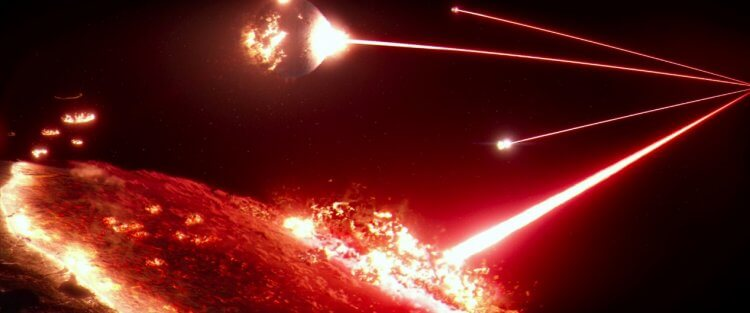 「霍斯連恩星系」(Hosnian System planets) 最後被第一軍團的弑星者基地摧毀。
