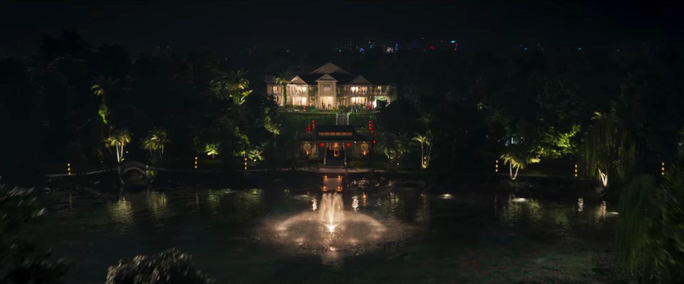 《 瘋狂亞洲富豪 》男主角奶奶的家, 泰瑟爾公園 內的豪邸。