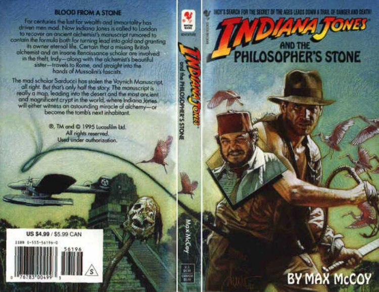 《印第安納瓊斯》系列小說。