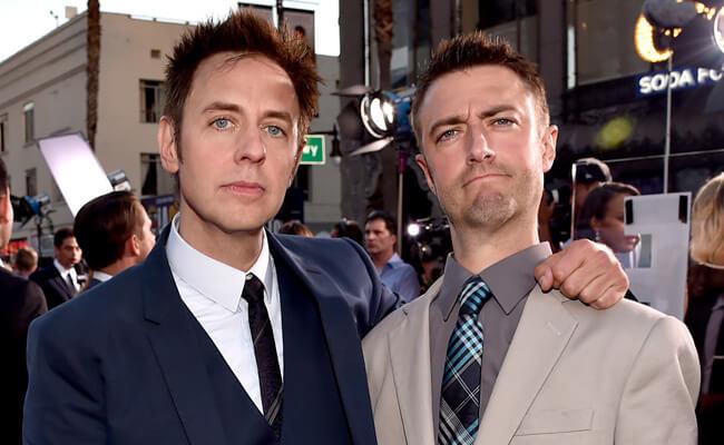 漫威超級英雄電影《星際異攻隊》前導演詹姆斯岡恩(左)及其胞弟:仍於該系列出演的西恩岡恩(右)。