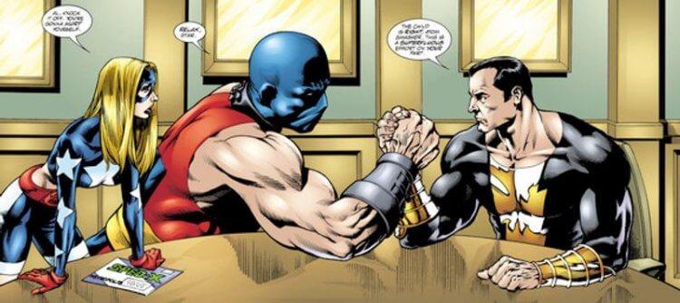 DC 漫畫中的逐星女、原子粉碎者及黑亞當,這些角色都將陸續登上電影及電視畫面。