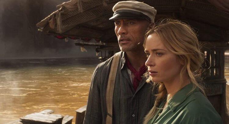 迪士尼電影《叢林巡航》主演卡司的巨石強森與艾蜜莉布朗。