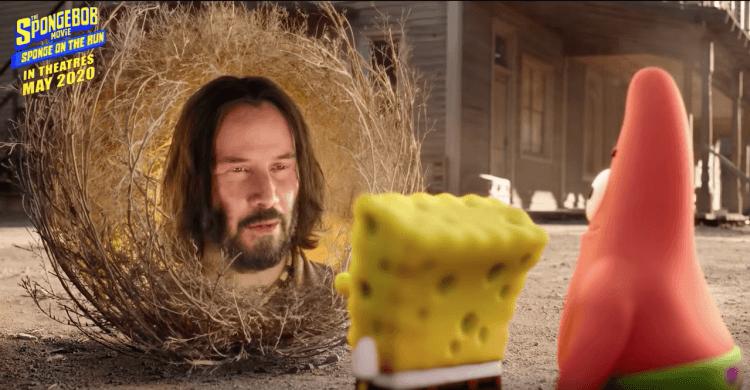 基努李維 (Keanu Reeves) 在《海綿寶寶:奔跑吧》(The Spongebob Movie: Sponge on the Run) 動畫電影「露臉」客串。