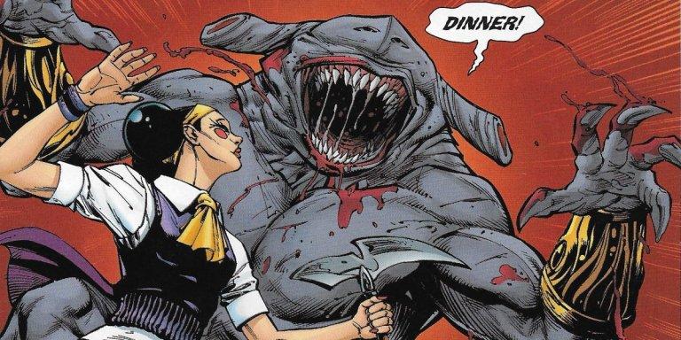 DC 漫畫裡的鯊魚王 (King Shark) 。