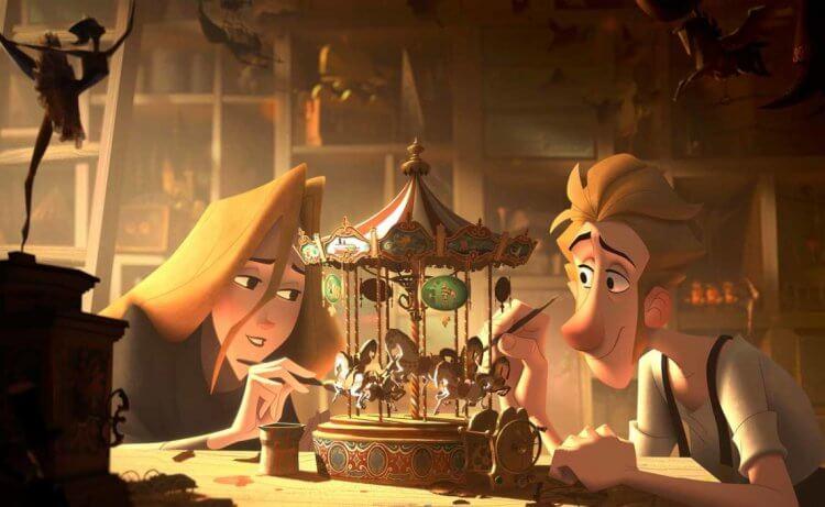 《克勞斯:聖誕節的秘密》是當今少有的 2D 動畫,然而強調光影的筆法讓電影看起來有 3D 立體的視覺感受。