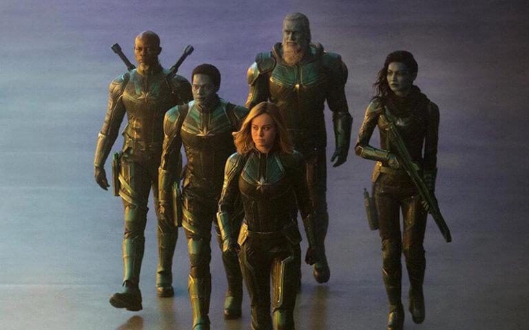 《驚奇隊長》已釋出的劇照可見卡蘿丹佛率領克里人星際軍事單位「Starforce」。