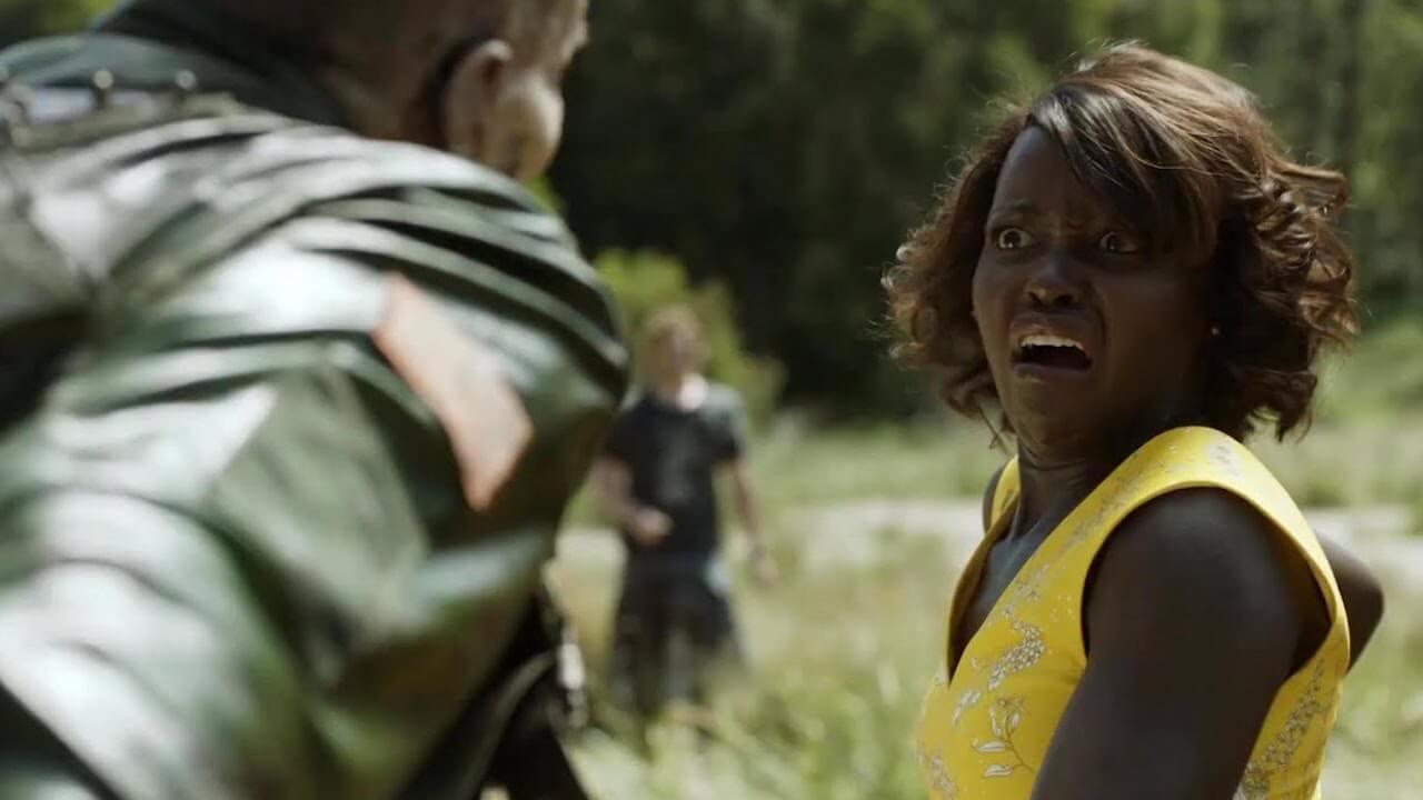 露琵塔尼詠歐在《校外打怪教學》( Little Monsters) 飾演保護學生從殭屍危機脫困的幼兒園老師。