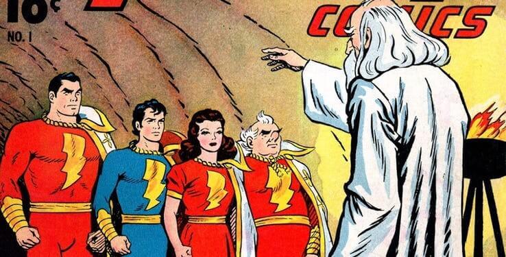 《沙贊!》原著漫畫中的沙贊家族與神祕巫師。