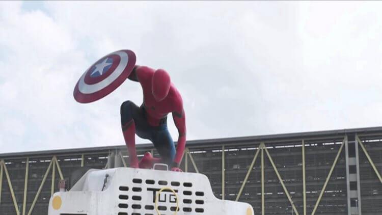 《美國隊長:英雄內戰》(Captain America: Civil War) 中的蜘蛛人。