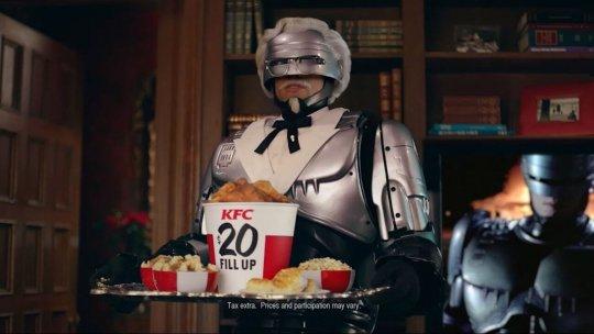 彼得威勒 (Peter Weller) 在肯德基廣告現身。
