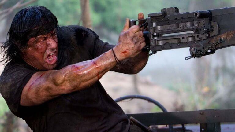 《第一滴血》的席維斯史特龍 (Sylvester Stallone)