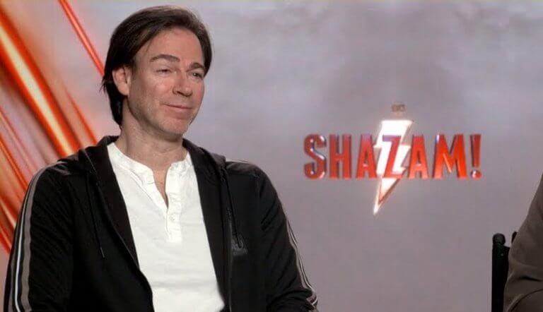 正在為即將推出的 DC 超級英雄電影《沙贊!》宣傳的監製:彼得沙佛朗。