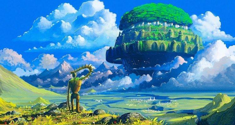 吉卜力工作室代表人物宮崎駿導演的《天空之城》。