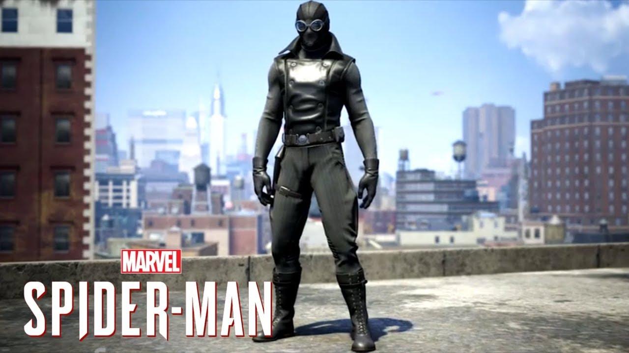 最新《 蜘蛛人:離家日 》片場照出現的黑衣蜘蛛人造型,與電玩《 漫威蜘蛛人 》的造型十分相似。