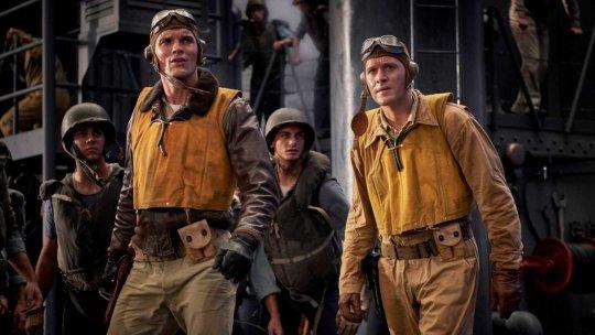 以第二次世界大戰太平洋戰爭之中途島戰役為本拍攝的電影《決戰中途島》中,美國奮鬥士兵故事令人情緒激昂。