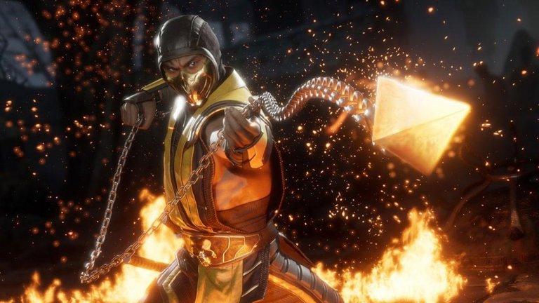電玩遊戲《真人快打 11》的「歇子」Scorpion。