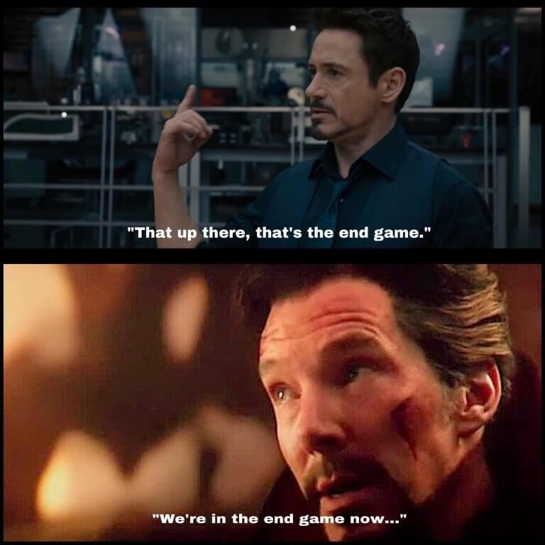 《奧創紀元》及《無限之戰》都曾透露了「終局之戰」的片名