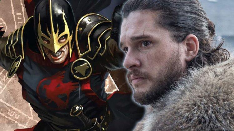 瓊恩雪諾與少狼主在漫威重逢了!基特哈靈頓將加盟《永恆族》演出黑騎士首圖