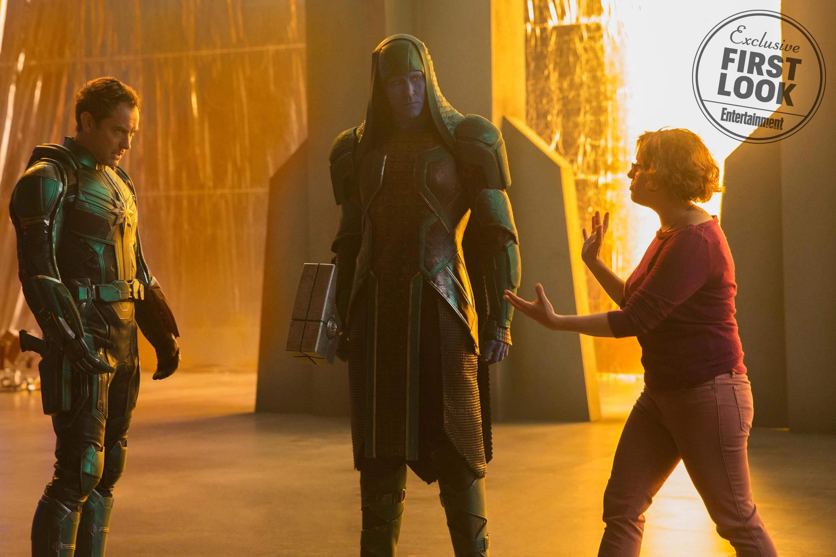 《 驚奇隊長 》拍攝花絮 克里人 控訴者羅南 。