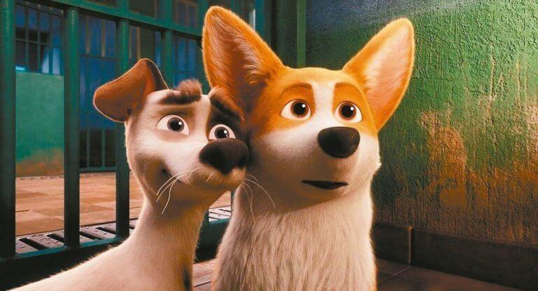 柯基犬當主角的動畫電影《女王的柯基》,片中的「鬥陣俱樂部」便是致敬布萊德彼特的經典作品。