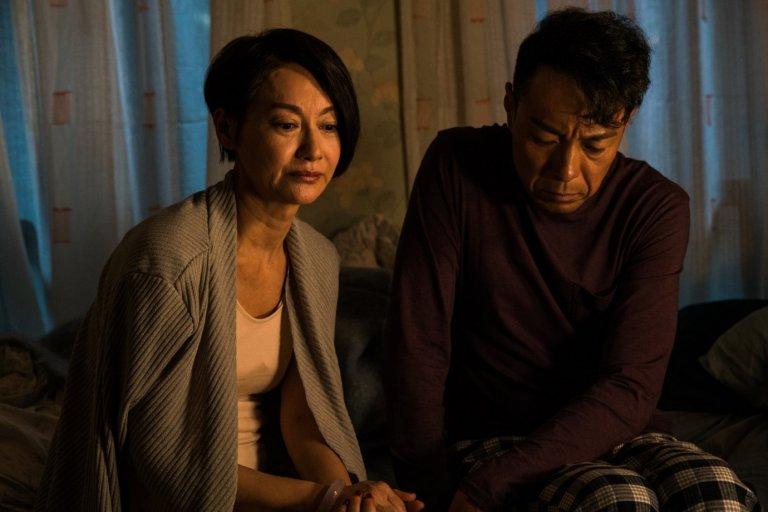 惠英紅在《翠絲》片中飾演維持「和樂家庭」表象的傳統華人女性。