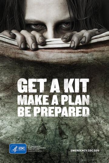 CDC 的「活屍末日指南」宣傳海報。