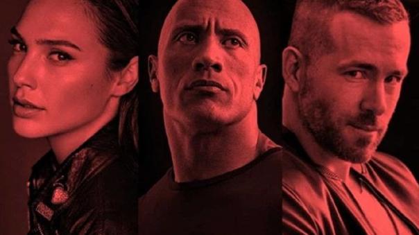 由巨石強森、萊恩雷諾斯及蓋兒加朵等明星主演的 Netflix 電影《紅色追緝令》。