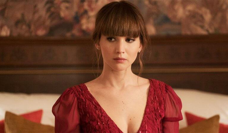 《紅雀》(Red Sparrow) 中的珍妮佛勞倫斯 (Jennifer Lawrence) 。