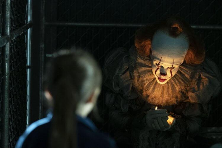 改編自史蒂芬金暢銷恐怖小說的電影《牠:第二章》中的邪惡小丑潘尼懷斯。