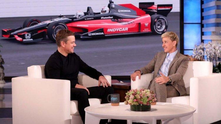 為宣傳《賽道狂人》,麥特戴蒙 (Matt Damon) 上艾倫秀 (The Ellen DeGeneres Show) 節目侃談幕後花絮。