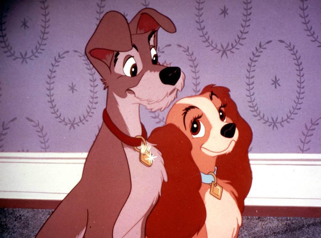 華特迪士尼 1955 年推出的動畫電影《小姐與流氓》。