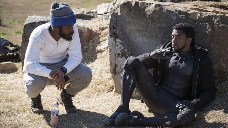 《黑豹》導演萊恩庫格勒與查德威克鮑斯曼。