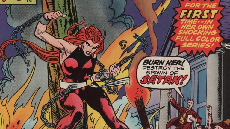 漫威漫畫中的反英雄角色:安娜地獄風暴(原名:撒旦娜地獄風暴)。