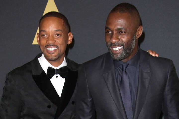 威爾史密斯 (Will smith) 和 伊卓瑞斯艾巴 (Idris Elba) 合影。
