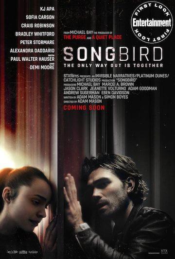 麥可貝監製的武漢肺炎電影《Songbird》海報。