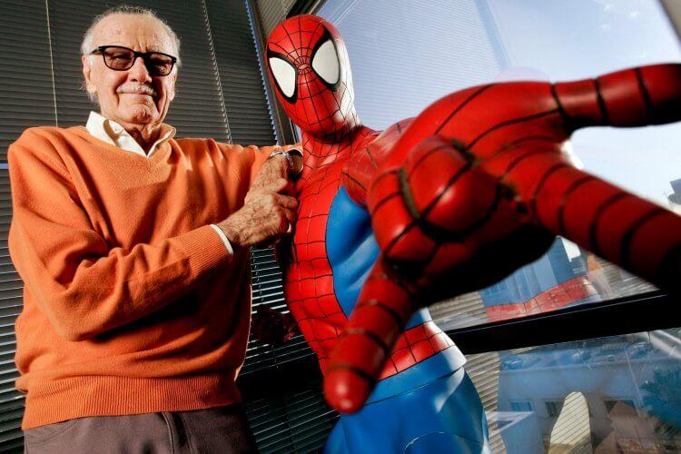 史丹李和蜘蛛人。
