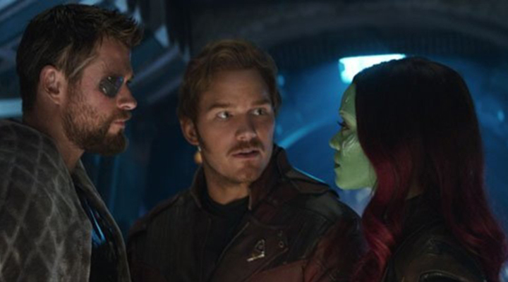 星爵 在片中相當擔心 葛摩拉 (Gamora)。